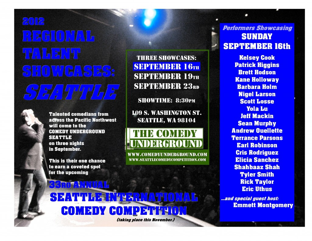 Regional Talent Showcase: Seattle 9/16