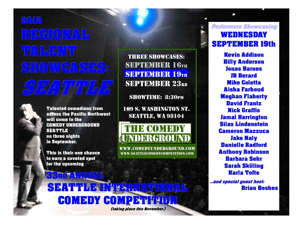 Regional Talent Showcase: Seattle #2 9/19/12